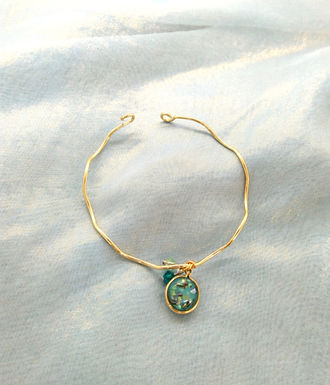 手鐲Bracelet/樹脂Resin(12mm/Swarovski施華洛世奇水晶(4mm)鍍金Gold-plated