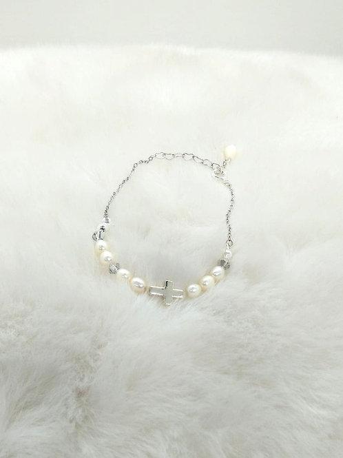 Bracelet 手鍊/ Pearl珍珠(5mm)/ Silver 純銀