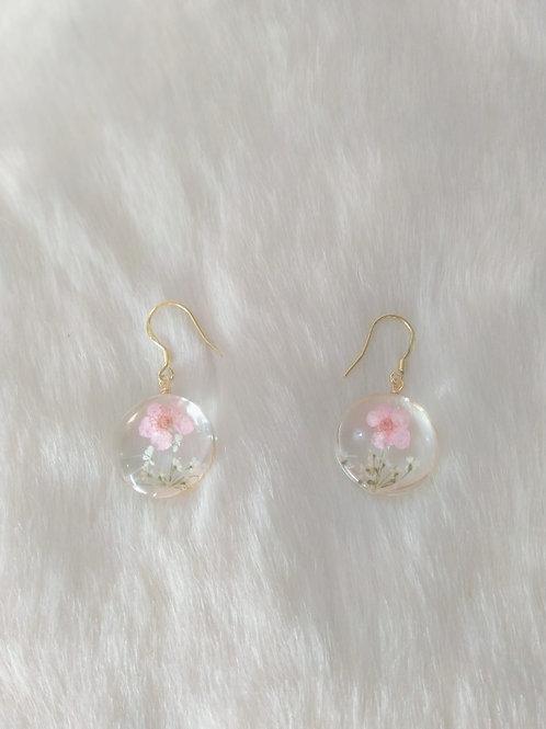 Earrings耳環/ Resin 樹脂(12mm) /gold-plated 鍍金