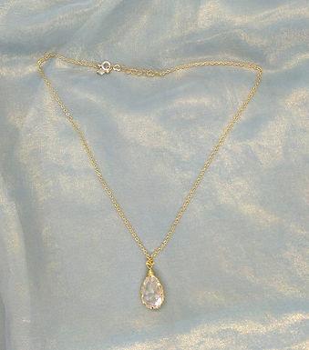 頸鍊Necklace/樹脂Resin(紅)/鍍金Gold-plated