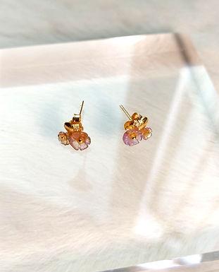耳環、碧璽(6mm/4mm)、14K金