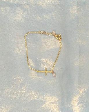 手鍊Bracelet/施華洛世奇水晶Swarovski/鍍金Gold-plated