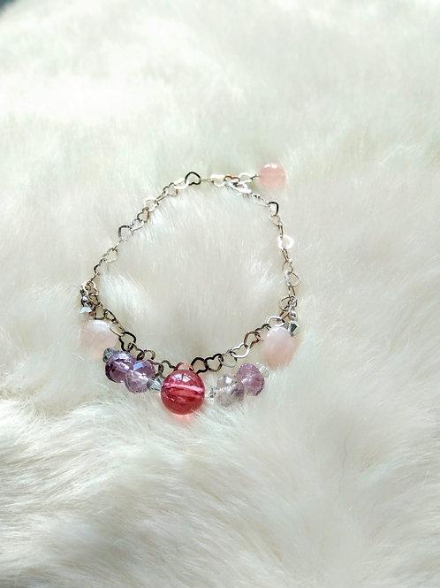 Bracelet 手鍊 / Amethyst紫晶(4mm*8mm)  /Rose Quartz粉晶(10mm)  /Fluorite紫螢石(12mm