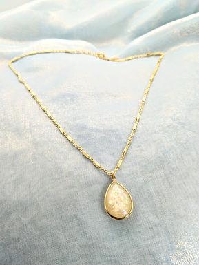 頸鍊Necklace/樹脂Resin(15mm*20mm)/鍍金Gold-plated