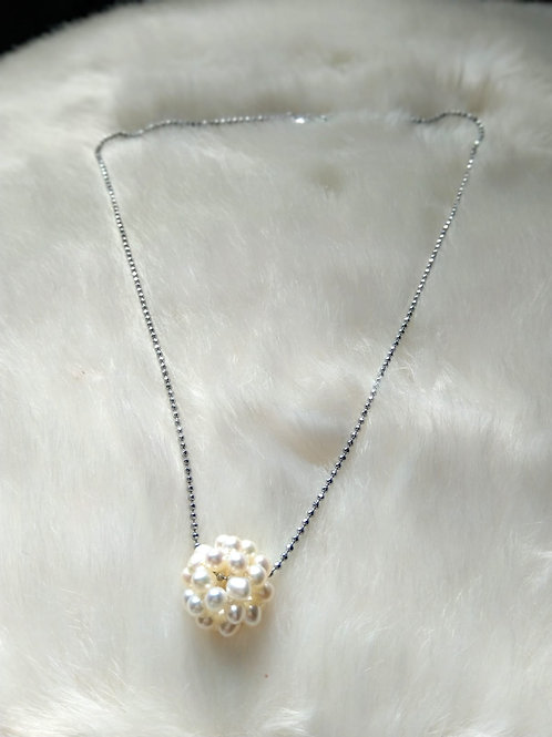 Necklace頸鍊 -Pearl 珍珠(20mm) /-Gold-plated 鍍金/ length: 43.5cm