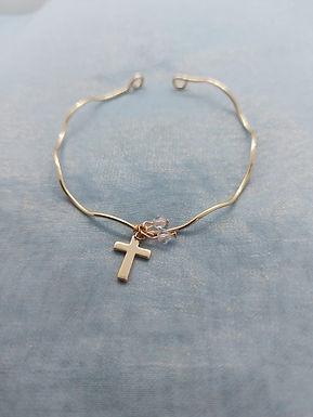手鏈Bracelet/施華洛世奇水晶Swarovski(4mm)/鍍金Gold-plated