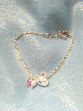 Bracelet手鍊/Swarovski施華洛世奇水晶(10mm)(4mm)/Pearl珍珠(5mm)/Gold-plated鍍金