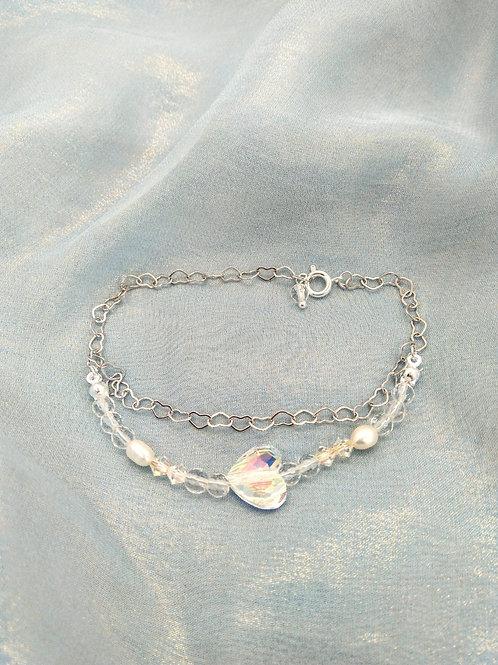 Bracelet手鍊/Swarovski施華洛世奇水晶(10mm)(4mm)/Crystal水晶(4mm)/Pearl珍珠(5mm)/Gold-plated鍍金