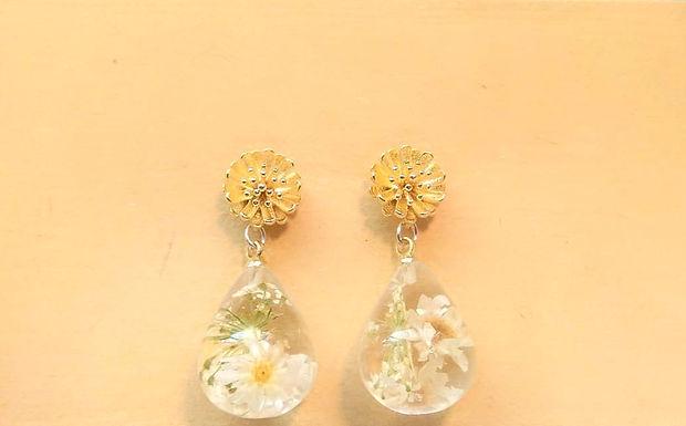 Earrings 耳環 /Resin 樹脂 /gold-plated包金/
