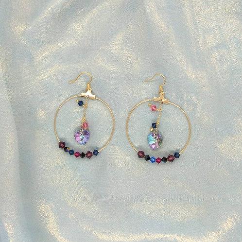 Earrings耳環/Swarovski施華洛世奇水晶(10mm)(4mm)/Gold-plated鍍金