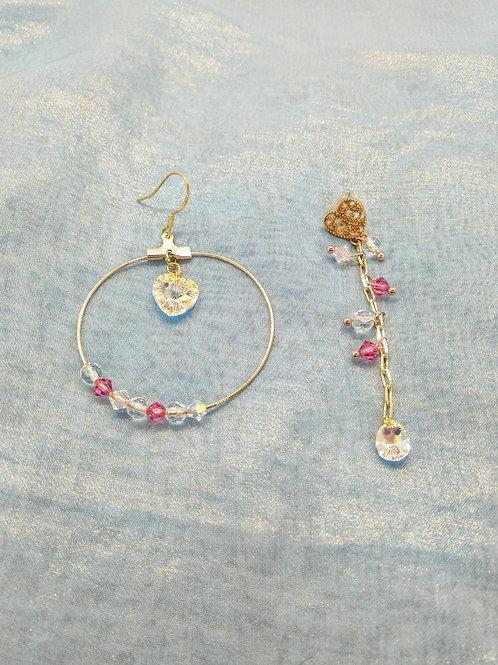 耳環Earrings/施華洛世奇水晶Swarovski(10mm)(10mm*5mm)(4mm)/鍍金Gold-plated