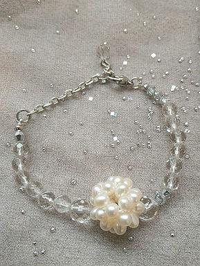 Bracelet手鍊/ Pearl珍珠(10mm)/ Crystal水晶(8mm)/ length: 19cm