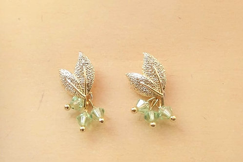 Earrings 耳環/ Swarovski施華洛世奇水晶/ gold-plated包金/