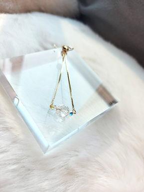 手鏈、白水晶(8MM)、施華洛水晶(4MM)、鍍K金