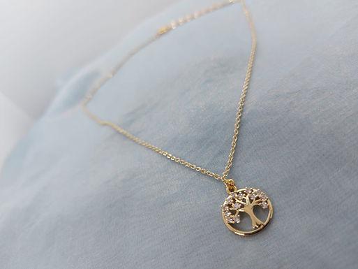 頸鏈Necklace/鋯石Zircon/鍍金Gold-plated(12mm)
