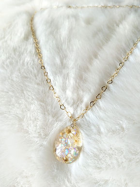 Necklace 頸鍊/ Resin樹脂(20mm) /gold-plated包金