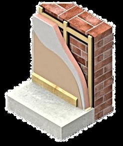 Izolatie termica perete interior. Bucuresti. Izomag Construct