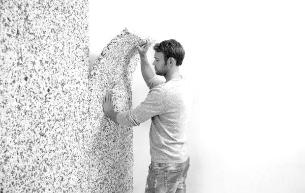 Lipire izolatie Simfofit pe perete. Bucuresti. Izomag Construct