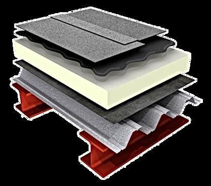 Diagrama hidroizolatii terase tabla cutata. Izomag Construct Bucuresti.