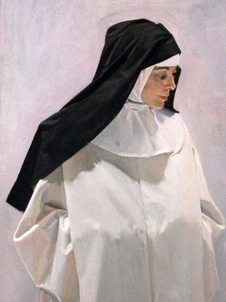 Rita vestida de monja