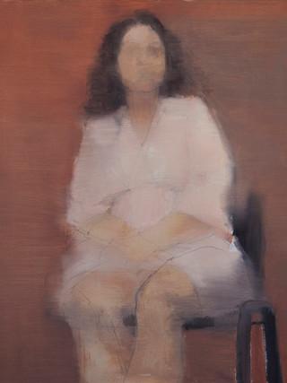 """ANIKA LLAVERO TALSI (Málaga,1985)""""Estudio de figura"""" (2012) Óleo sobre tela, 61x50 cms."""