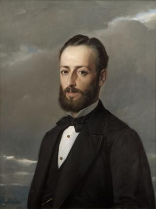 "FEDERICO DE MADRAZO Y KÜNTZ (Roma, 1815 – Madrid, 1894) ""Don Gabino Stuyck"" (hacia 1865). Óleo sobre tela, 68x52 cms."