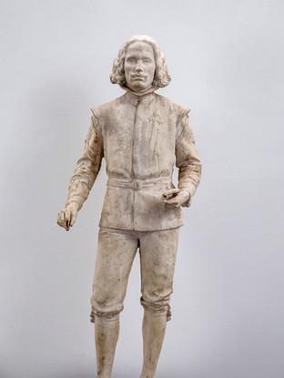"""Francisco López Hernández (Madrid, 1932 - 2017) """"Velázquez"""". 1986. Escayola. Altura 104 cms."""