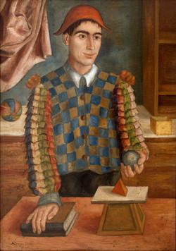 LOPEZ DIAZ Malabarista 1951 oleo-lienzo
