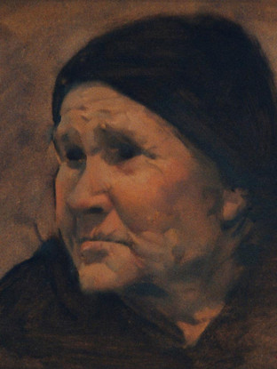 Cabeza de anciana