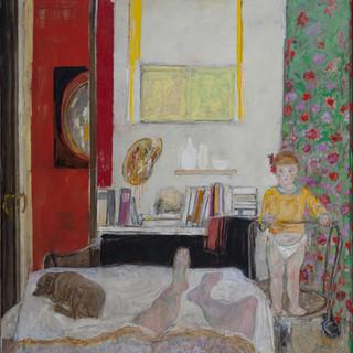 """La siesta del pintor"" 1977. Óleo sobre lienzo 200x200 cms."