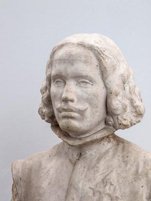 """Francisco López Hernández (Madrid, 1932 - 2017) """"Velázquez"""" (Detalle). 1986. Escayola. Altura 104 cms."""