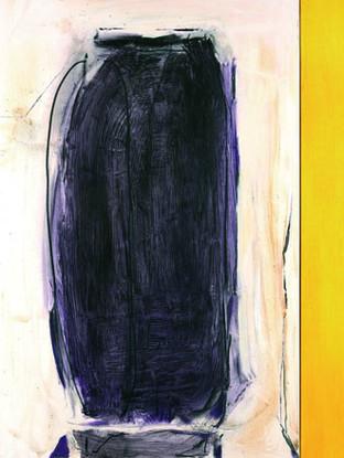 """Pepe Bernal (Huércal-Overa, Almería, 1957) """"Los hilos de las sombras"""".2007. Mixta sobre lienzo. 146x146 cms."""