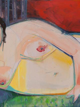 """SONIA SALMERÓN """"Desnudo"""" (2012) Acrílico sobre lienzo, 40x80 cms."""