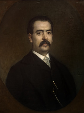 "RAIMUNDO DE MADRAZO Y GARRETA (Roma 1841, Versalles 1920) ""Retrato de caballero"" Óleo sobre tela. 72x60 cms."