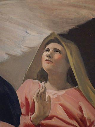 La Anunciación (detalle)