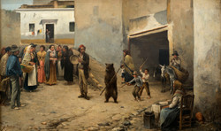 BEDMAR El oso 1894 oleo-lienzo