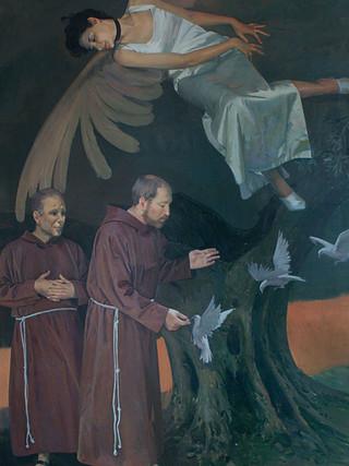 Predicación de san Francisco a los pájaros