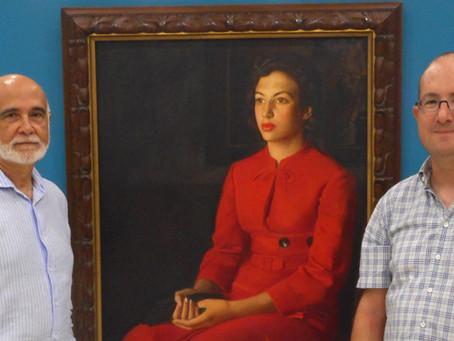 Una pintura de Rafael Estellés, obra invitada en el Museo Ibáñez de Olula