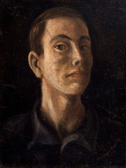 LOPEZ DIAZ Autorretrato 1945 oleo-lienzo