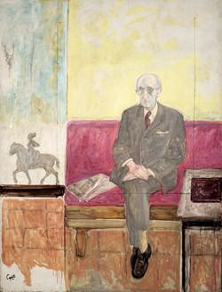 CAPULETO Retrato de Cristino Mayo 1986 oleo-lienzo