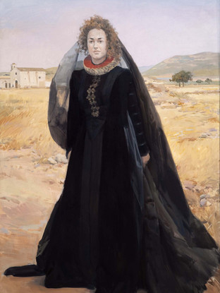 Eugenia con traje español del S. XVII