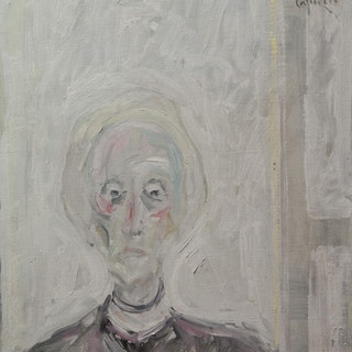 """Cabeza de mujer"" Hacia 1980. Óleo sobre lienzo 61x50 cms."