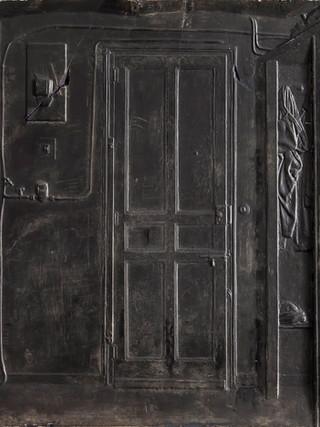 """Francisco López Hernández (Madrid, 1932 - 2017) """"El estudio de Urola"""". 1970. Escayola patinada. 45x46 cms."""