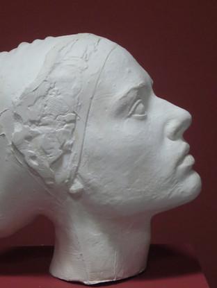 Cabeza de mujer (modelo para un monumento) . 2005