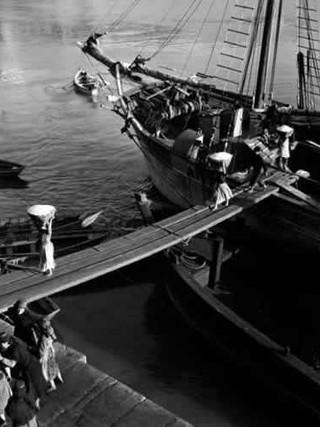 Descargando sal, Oporto, 1939