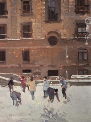 Juegos en la nieve, Pamplona