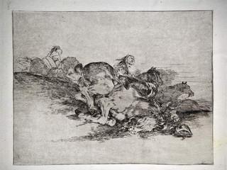"""""""Siempre sucede"""". Grabado 8 de la serie Los desastres de la guerra 1810 - 1815. Primera edición (1863) Aguafuerte. Huella 15x20 cm"""
