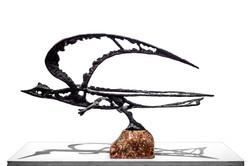 CRUZ Pajaro volando circa 1970 bronce