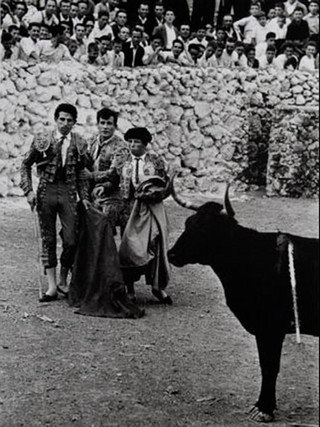 """""""Corrida de toros en un pueblo de la Mancha"""". 1961."""