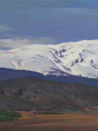 Sierra Nevada desde el castillo. La Calahorra
